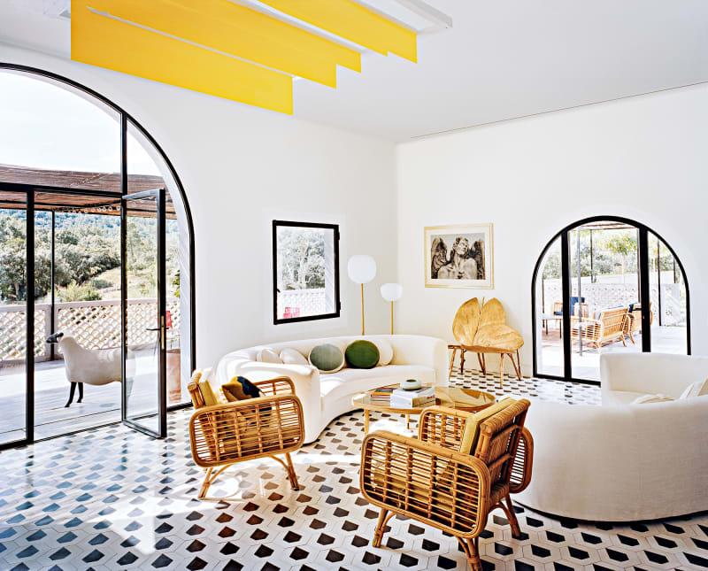Haus Côte d'Azur, India Mahdavi, Wohnzimmer