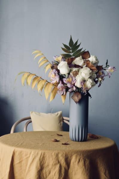 """Mit in der Vase von SoLebIch-Mitglied """"Petit Sourire"""": Blätter eines Essigbaums."""