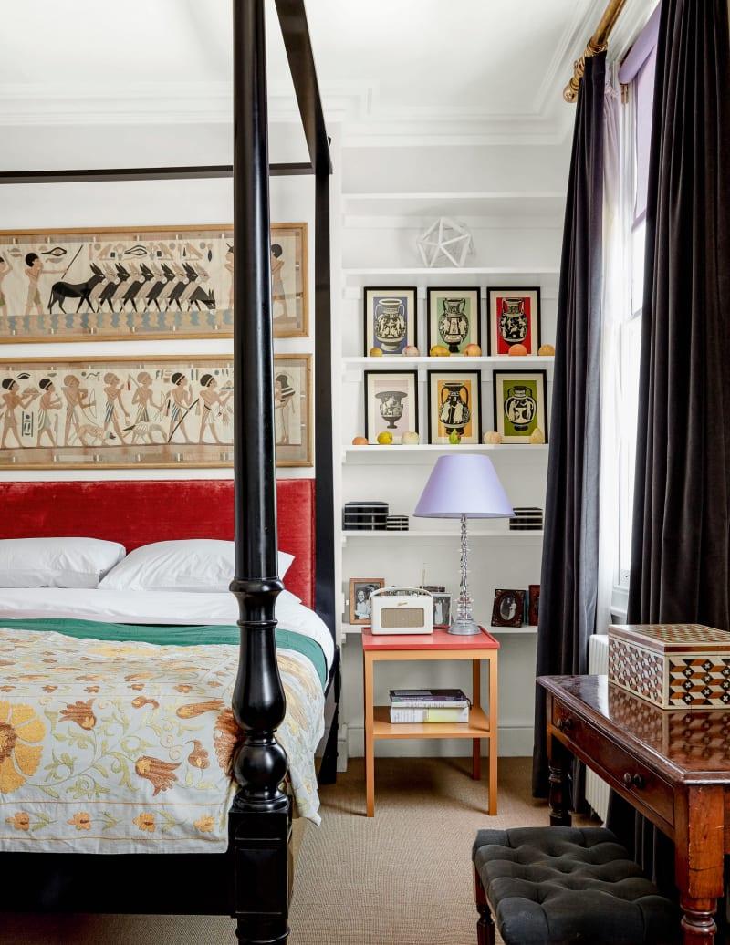 Schlafzimmer im Haus von Bridie Hall in London