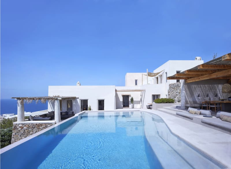 Pool auf Mykonos