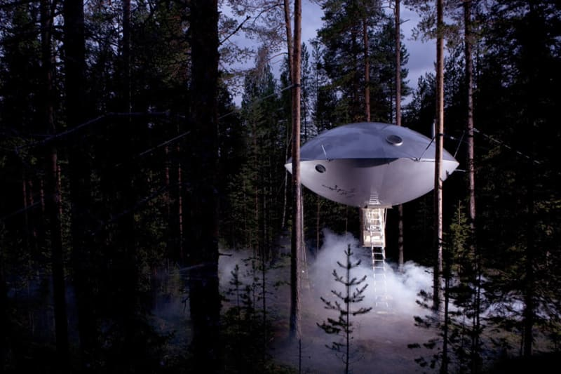 "4. ""UFO Room"", Tree Hotel, Harads"