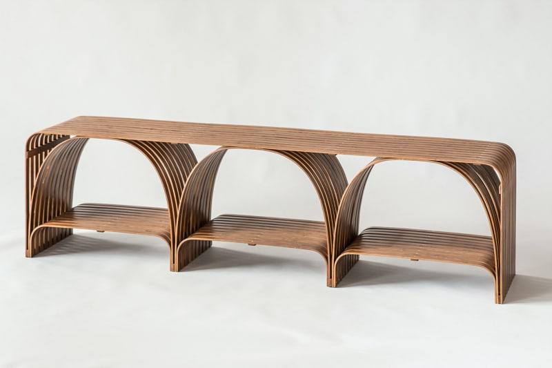 "8. Sebastian Herkner, ""Bridge Bamboo Bench"""