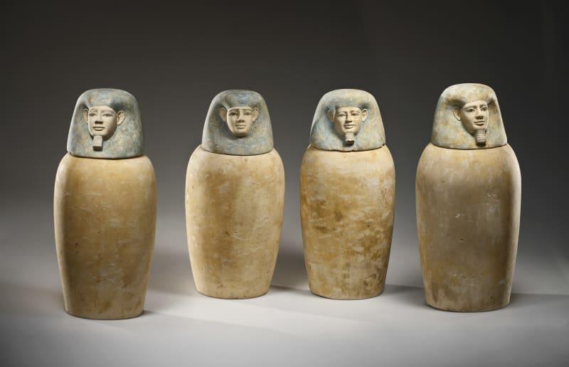 Kanopenkrügen aus der 12. Dynastie, 1939-1760 v.C.