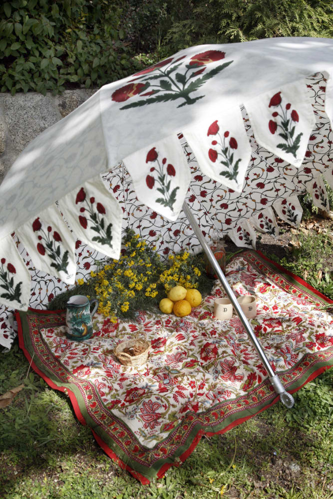 Sieben Sonnenschirme für heiße Tage