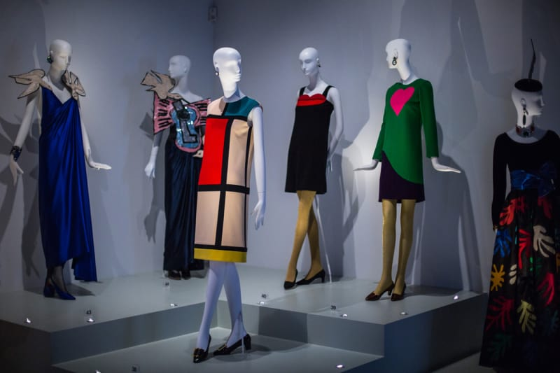 Install-shot-of-Yves-Saint-Laurent-Style-is-Eternal-at-the-Bowes-Museum-(c)-Andy-Barnham-(2)