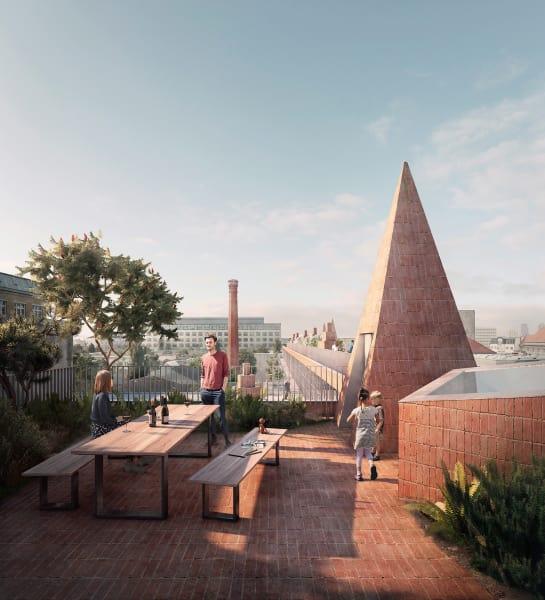 Zum Bau gehört eine allen zugängliche Dachlandschaft.
