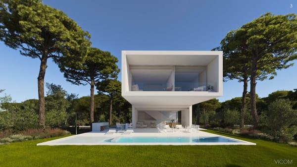 Das Projekt von Fran Silvestre und Espacios Evalore befindet sich 15 Minuten von Girona entfernt.