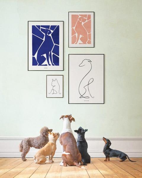 Schön art-ig: Dogmade bietet individuell konfigurierbare        Vierbeiner-Porträts von über 60 Hunderassen, ab 65 Euro via dogmade.com