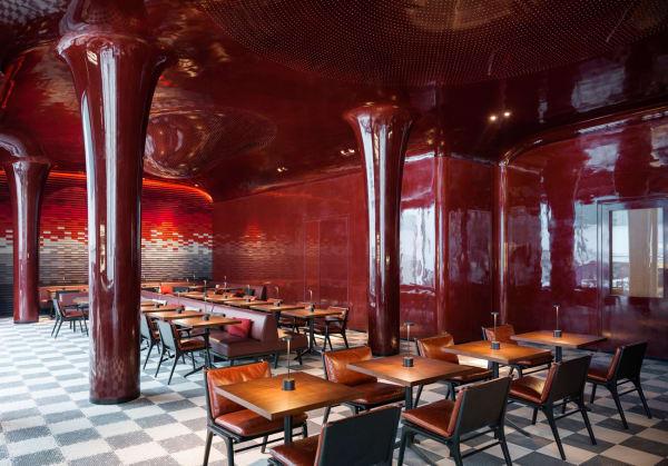 """Das Herz des neuen """"Les Bains"""":  das Restaurant."""