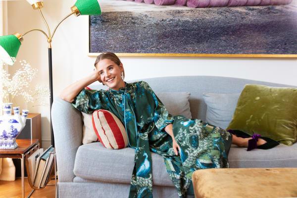 Wie viel Farbe und Textur kann man elegant auf X Quadratmetern unterbringen? Die schwedisch-britische Interiordesignerin Beata Heuman zeigt es in einem Mini-Apartment in Paddington.