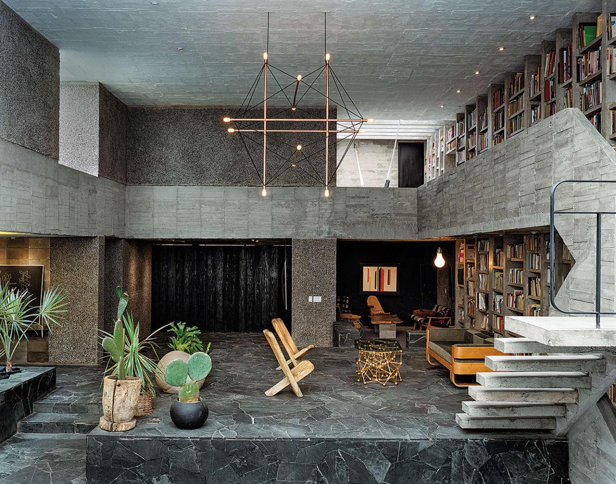 Beton-Haus, Mexico City Beton-Haus, Pedro Reyes Wohn-Haus
