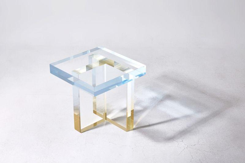 """Crystal Series, skye blue to yellow II"", Saerom Yoon"
