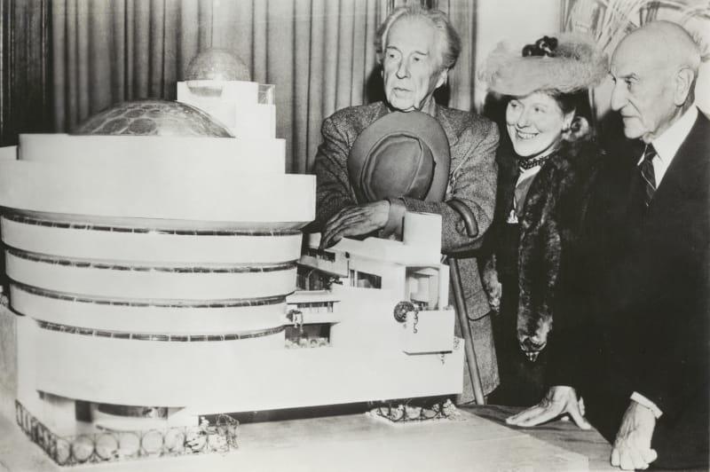 Frank Lloyd Wright Portät bw
