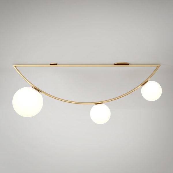 """<p>""""Girlande Lamp"""". Alle Leuchten aus der Kollektion """"Circle, Triangle, Rhombus"""" sind in schwarz, weiß oder messing erhältlich.</p>"""
