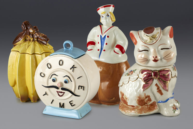 Cookie jars formerly in the collection of Andy Warhol.