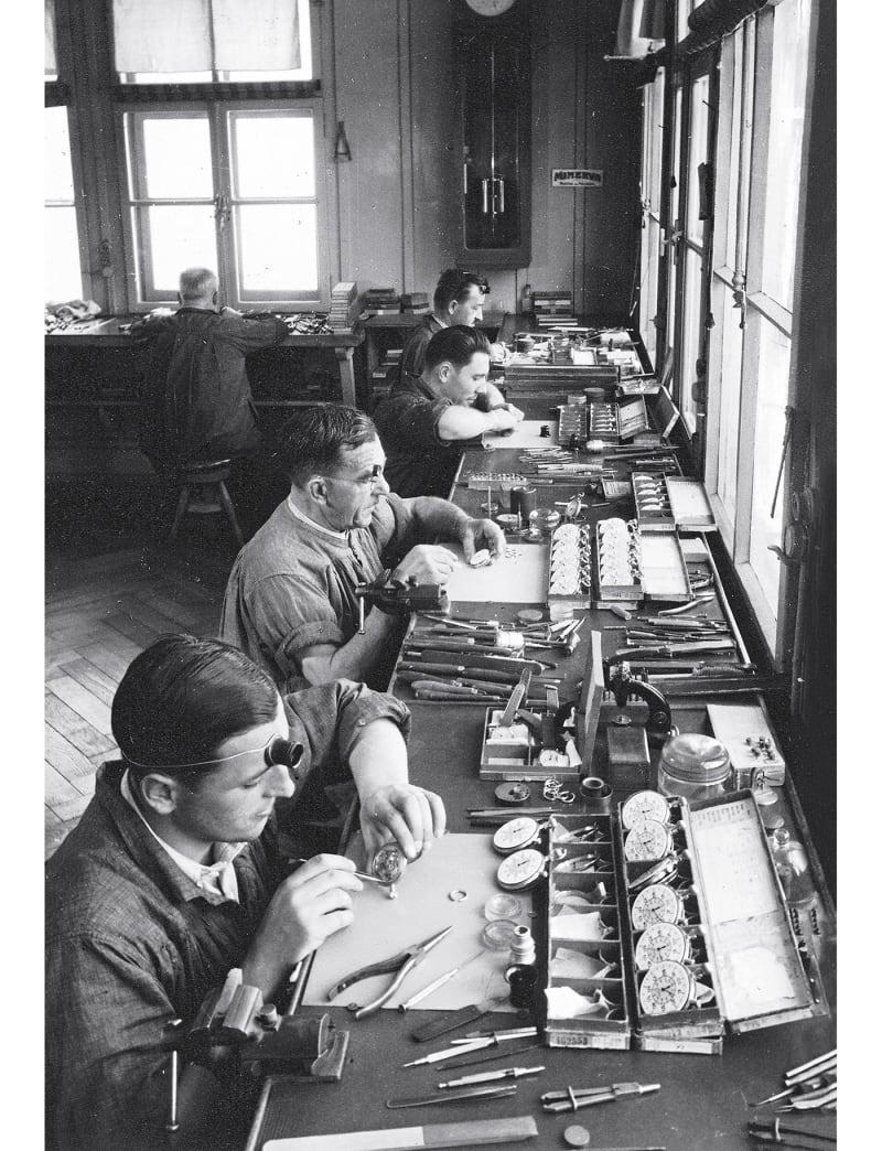 Uhrmacher in den 1930ern