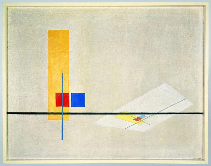 László Moholy-Nagy Konstruktion Z-I 1922-1923 Bauhaus Archiv