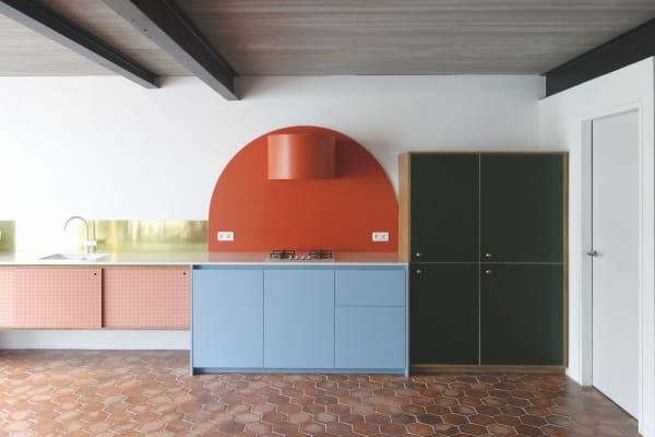 Kunterbunte Küche von Dries Otten in Gent