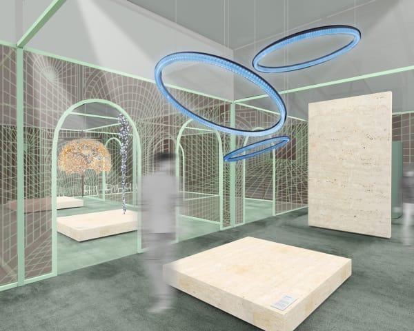 Auf 1200 Quadratmetern werden die Neuheiten von Swarovski präsentiert.