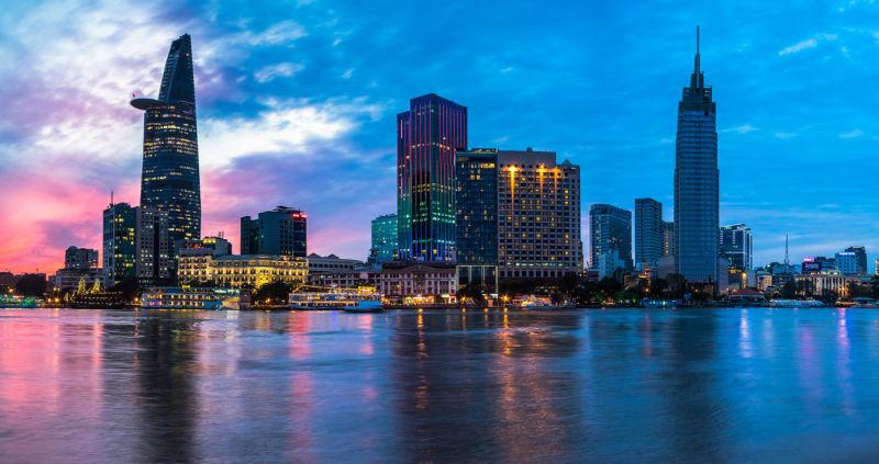 The-Reverie-Saigon---Exterior-at-Sunset