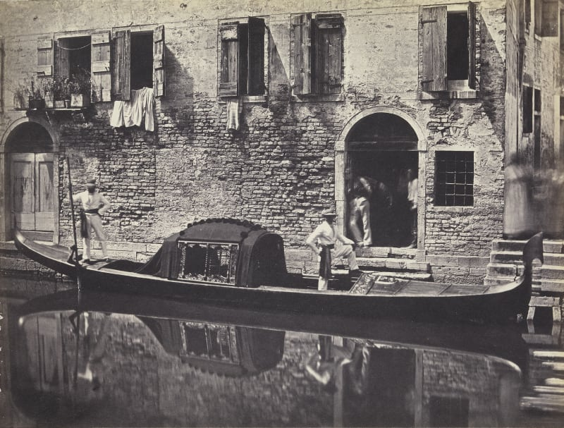 Domenico Bresolin (1813-1900), Gondel vor einer Hausfassade, um 1851/55
