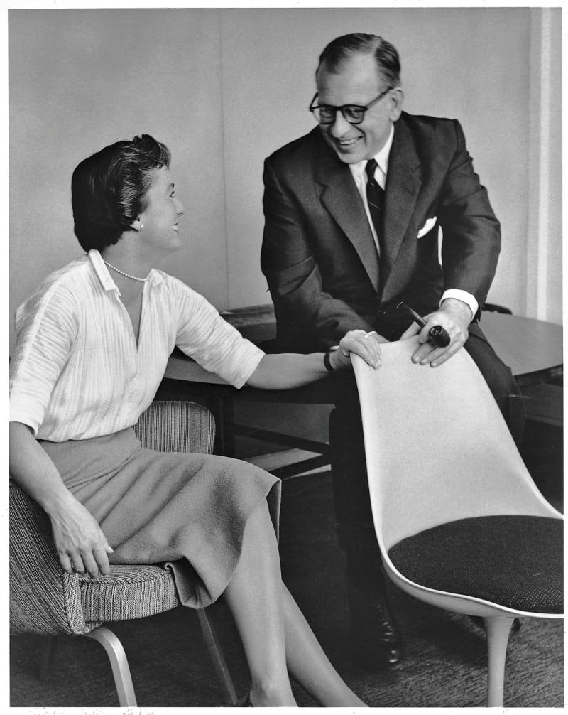 Florence Knoll und Eero Saarinen