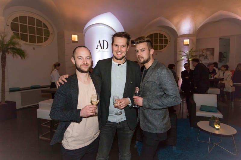 Kilian Schindler, Sebastian Herkner und Manuel Reinshagen