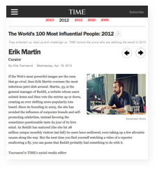 100 most influential people by Time Magazine