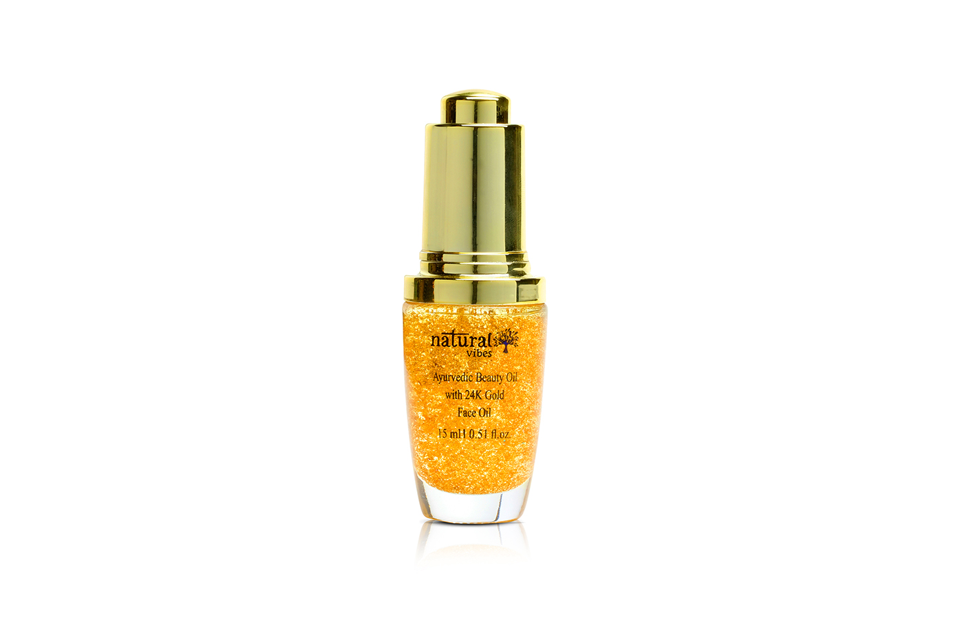 Natural Vibes Ayurvedic Beauty Oil with 24K Gold