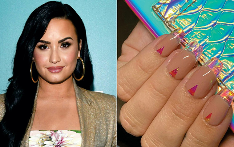Demi Lovato's Glass Tips sets the trend