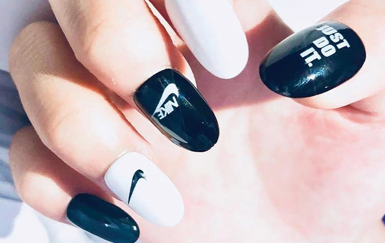 Latest manicure obsession: Logo nail art