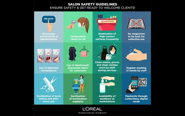 L'Oréal issues safety guidelines for salons in India