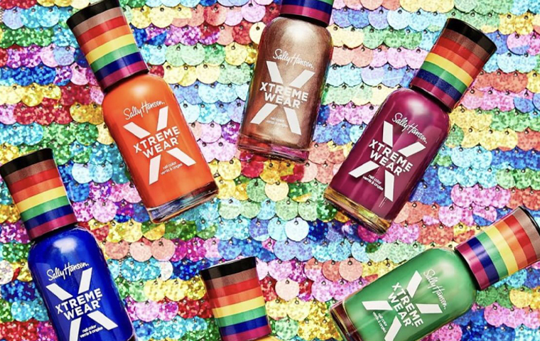 Sally Hansen launches new range of nail polishes with the Pride Flag on its cap