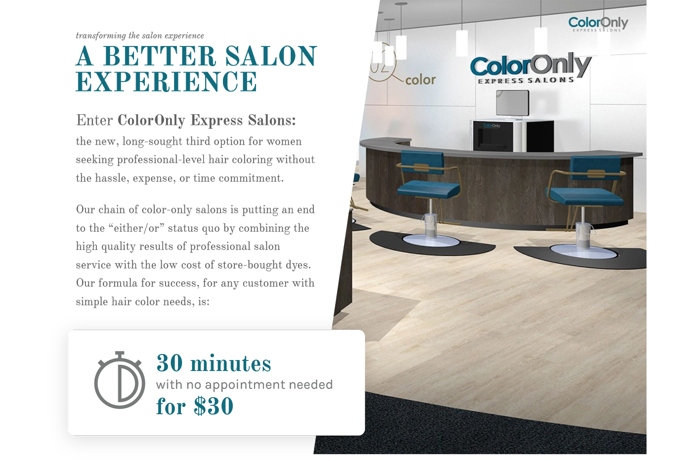 ColorOnly launches world's fastest hair colour