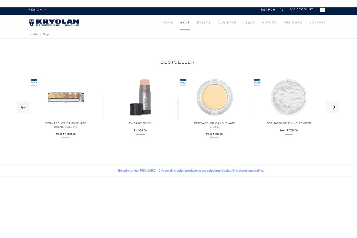 Shop safe with Kryolan