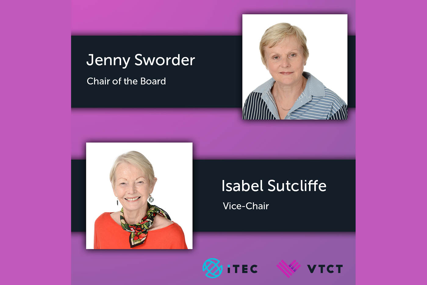 VTCT appoints new Chair and Vice-Chair