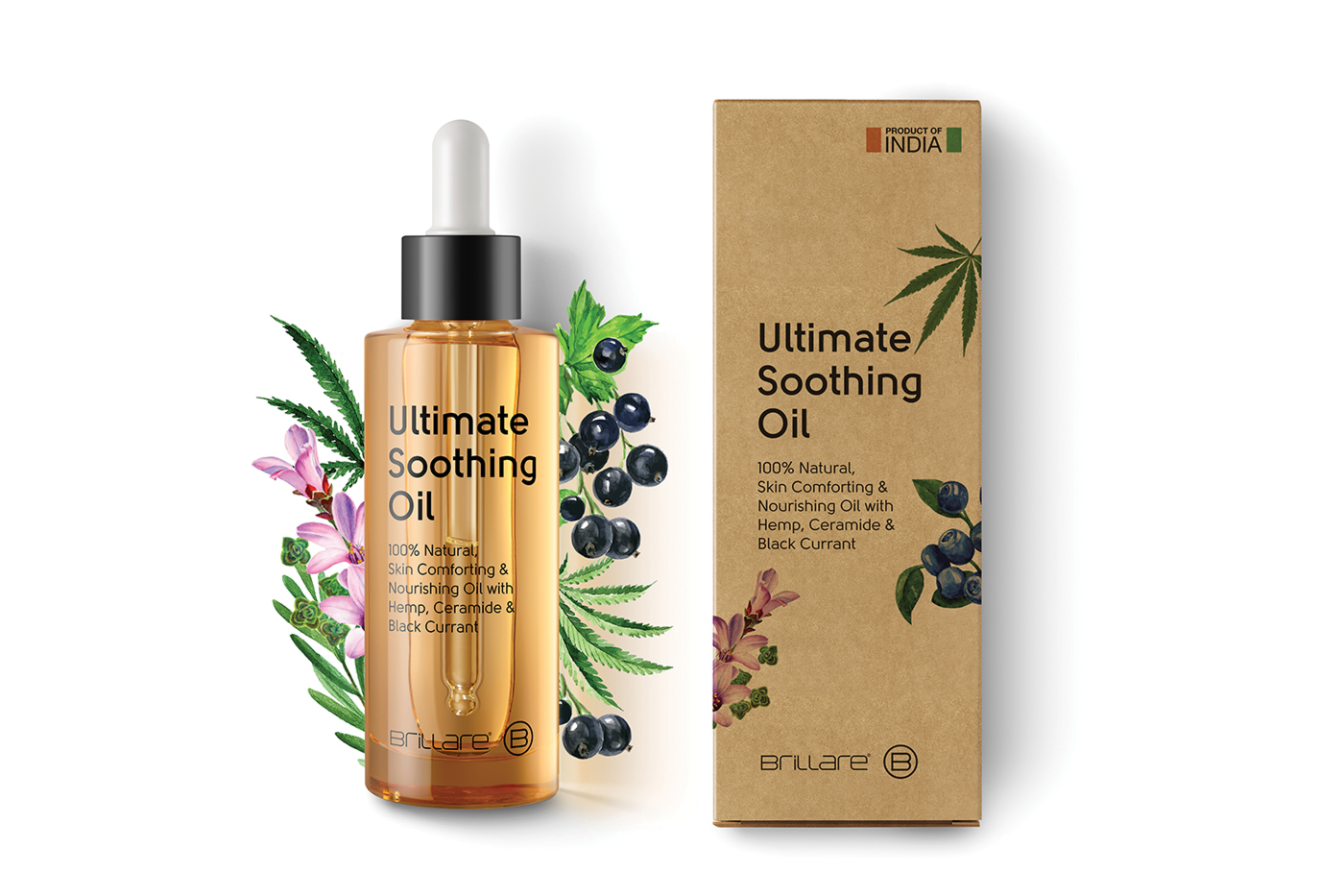 Brillare's soothing oil for irritated skin