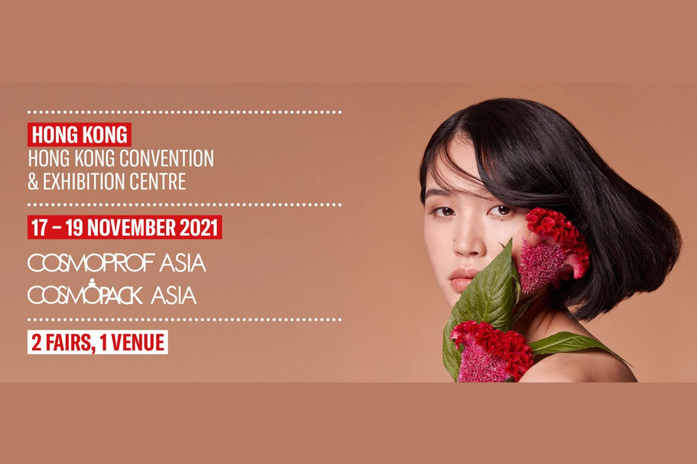 25th edition of Cosmoprof Asia to be held from November 17-19, 2021