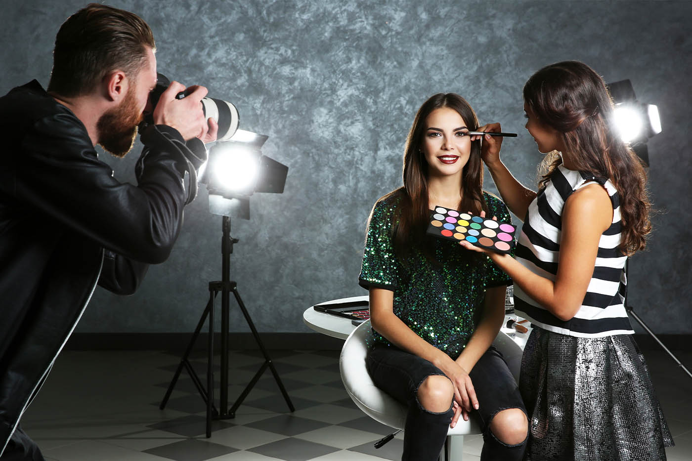 On Camera Make-up Techniques
