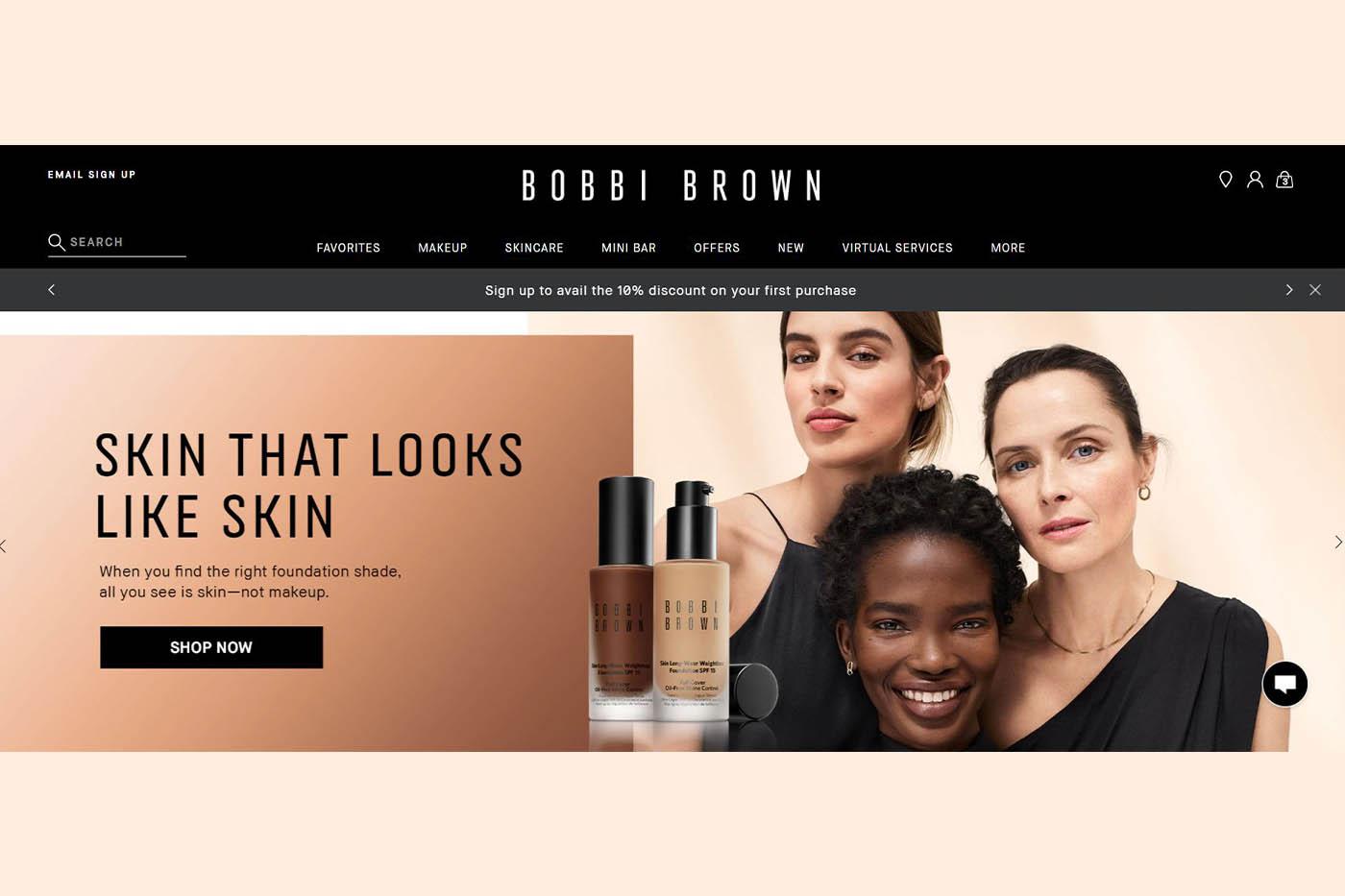 Bobbi Brown Cosmetics launches website in India