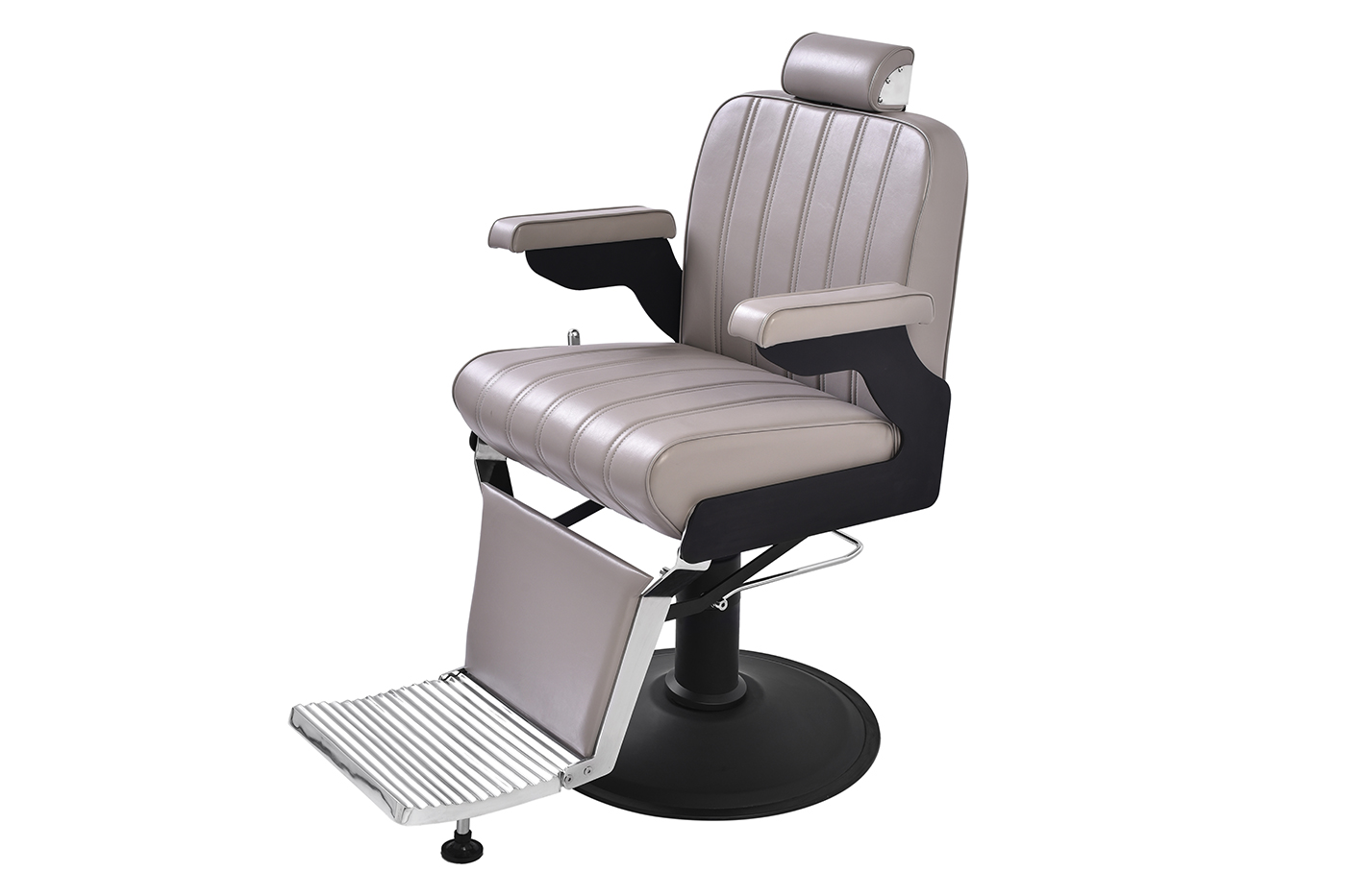 Marc's barber chair designed for clients' comfort