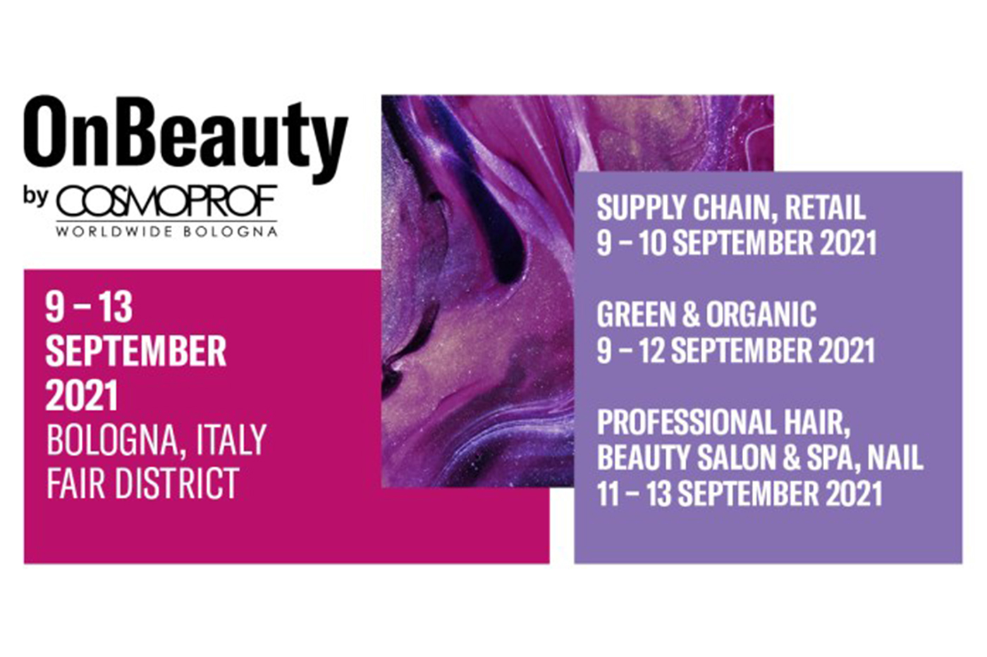 OnBeauty by Cosmoprof Worldwide Bologna to be held between 9-13 September