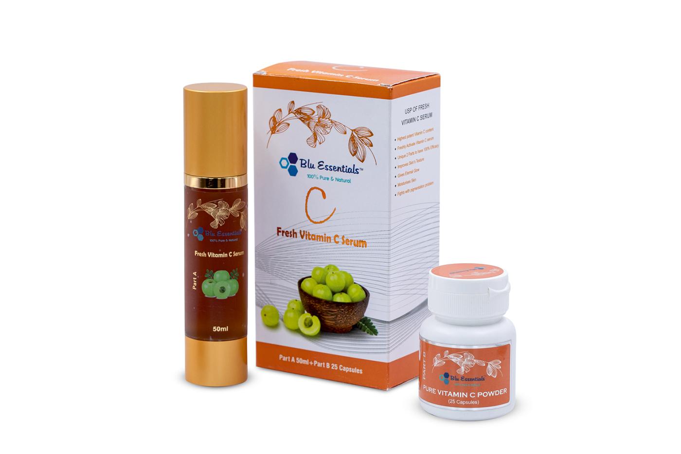 Blu Essentials serum for refreshing skin