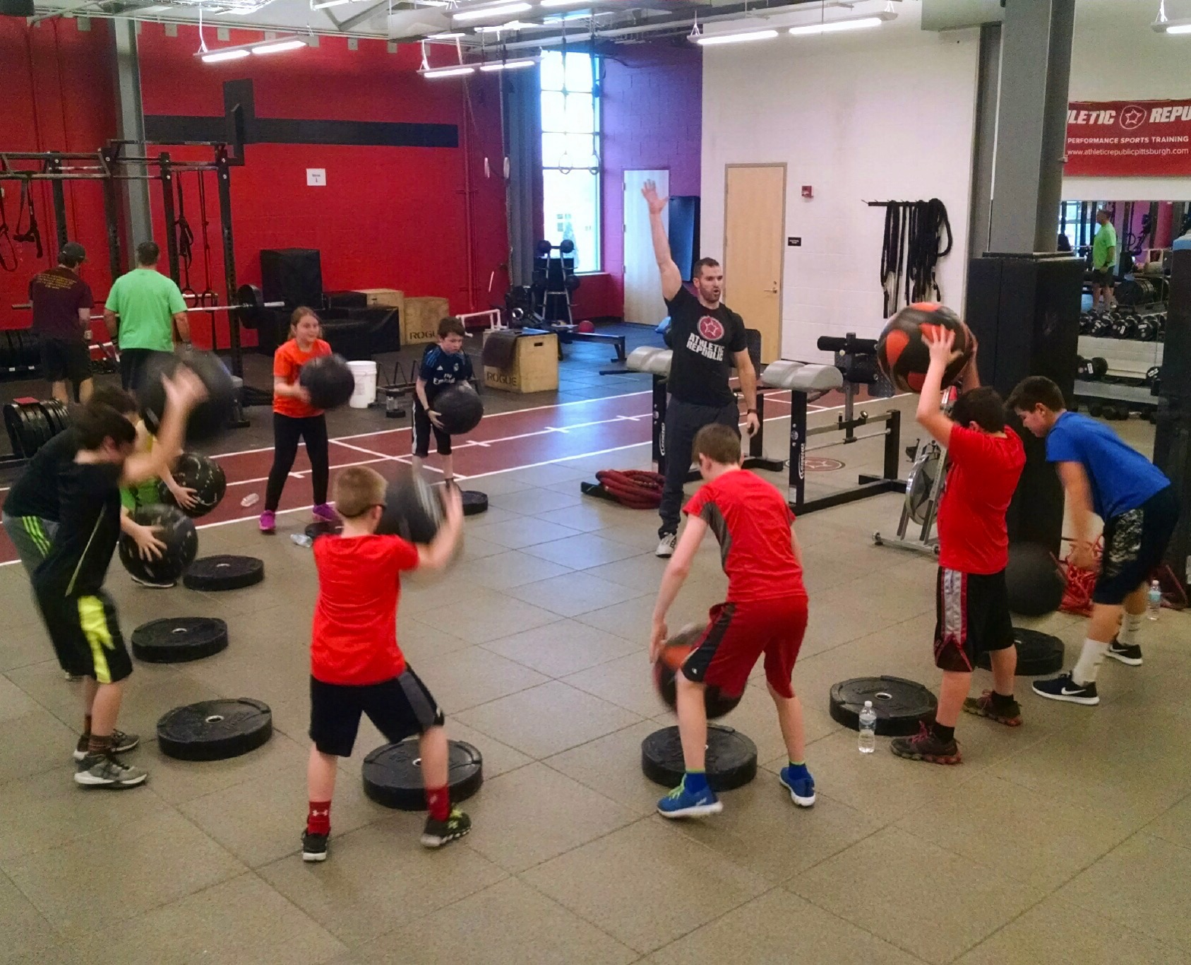 Youth athlete group training sessions