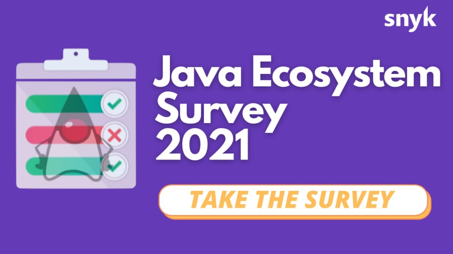 Go to the Java 2021 survey