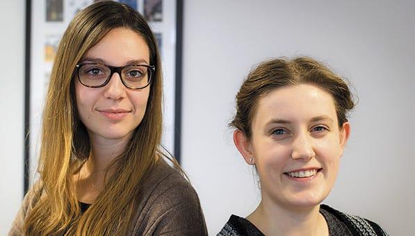 Isobel Urwin and Alessia Gambarotto