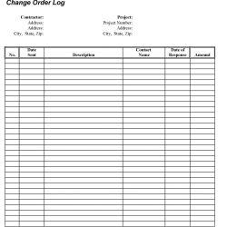 Change Order Log