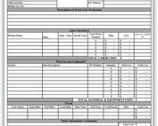 Time and Material Billing Template