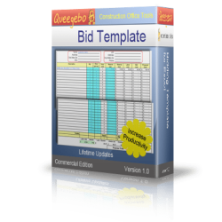 Easy Bid / Estimating Itemized Sheet in Excel
