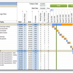 Weekly Commercial Construction Schedule with Excel
